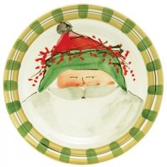 Old St. Nick Green Hat Dinner Plate