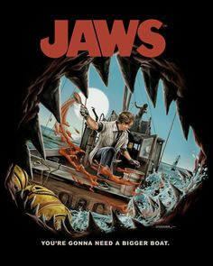 This is just one of three great JAWS tees I just bought from Fright Rags!  Get 'em  while they are still available!   www.fright-rags.com