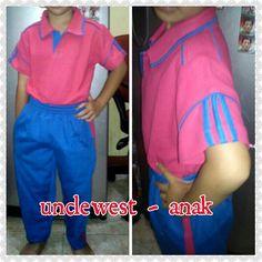 Pakaian olahraga anak nyaman di pakai senam, bisa produksi untuk anak sd, smp, sma