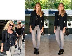 Black Blazer + Gray Jeans