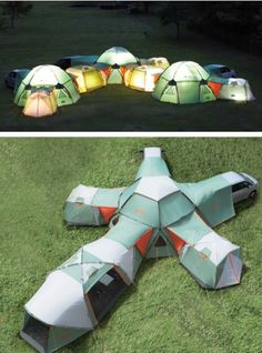 Not sure if this is a good idea. I may never leave the tent. but its really cool