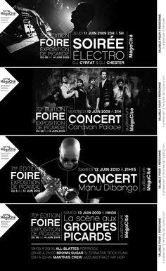 Mégacité - Amiens | Conseil, accompagnement et conception graphique | Billetterie concerts de la Foire exposition de Picardie