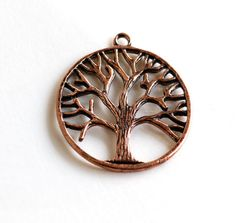 2  Large Antique Copper and Brass TREE OF LIFE by SmartParts, $2.99