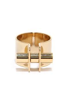 Follow Through Gold Ring  ?utm_source=pinterest&utm_medium=social&utm_campaign=swellmayde