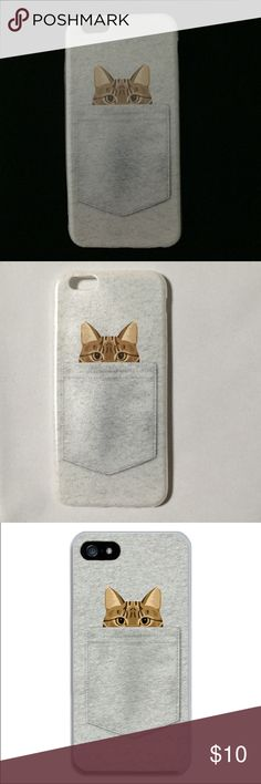 Soft Silicone Phone Case for iPhone 6/6s Soft flexible phone case for iPhone 6/6s ~ featuring Peek-a-Boo Kitty ~ color is gray Accessories Phone Cases