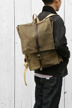 Archival Clothing Grey Waxed Twill Rolltop Pack At The Lodge Bags Pinterest And Bag