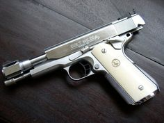 Tussey Customs Colt Longslide on Springfield frame hard chrome w/genuine elephant ivory