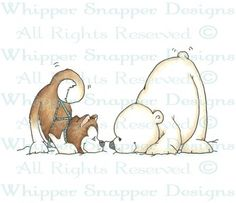 Hello Friend - Bears - Animals - Rubber Stamps - Shop