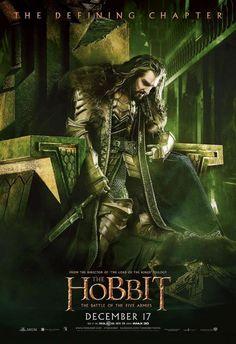 O Hobbit A Batalha dos Cinco Exercitos poster Thorin 14Out2014
