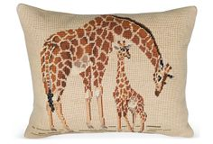 Needlepoint Giraffe Pillow on OneKingsLane.com