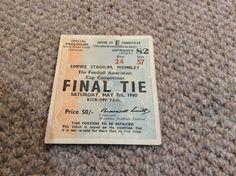 Original Ticket: 1960 FA Cup Final. Blackburn v Wolves @ Wembley in Sports Memorabilia, Football Memorabilia, Tickets/ Stubs   eBay