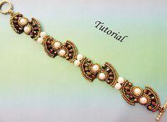 PDF for beadwoven bracelet beading tutorial - beadweaving beading pattern beaded seed bead jewelry - TAIPAI on Etsy, $5.75