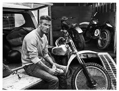 Sexy black and white. David Beckham. Harley Davison.