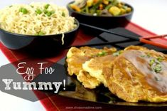 Who knew Egg Foo Yung was so easy (and cheap! Bean sprouts make it fresh and crunchy. What a delicious recipe for dinner, breakfast, brunch or Meatless Monday and I want that sauce on everything! Egg Recipes For Dinner, Healthy Dinner Recipes, Cooking Recipes, Fast Recipes, Dinner Ideas, Healthy Salads, Healthy Foods, Vegetable Egg Foo Young Recipe, Brown Sauce