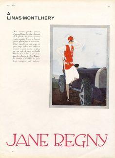 Jane Regny 1927 Sport Fashion, Montlhéry, Jean Pagès