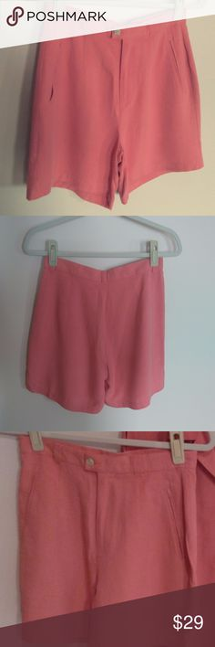 c73c66e4fa4 VTG Tommy Bahama NWOT Silk Shorts Peach Orange