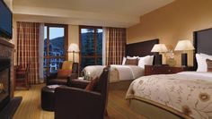 Comfy and cozy rooms at the Ritz in Lake Tahoe are perfect for unwinding.