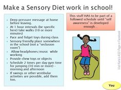 Sensory Diet at school!  Very beneficial