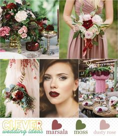 Marsala | 2015 Pantone Color of the Year - Spring Inspiration - Marsala, Dusty Rose and Moss