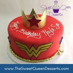 Wonder Woman Cake 1 Year Birthday, 1st Birthday Themes, Superhero Birthday Party, Birthday Cakes, Birthday Parties, Wonder Woman Birthday Cake, Wonder Woman Cake, Wonder Woman Party, Party Themes