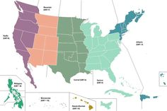 The United States Time Zone Map | Large Printable Colorful State with Cities Map | WhatsAnswer Standard Time Zones, Time Zone Map, Weeks In A Year, Imaginary Maps, Alternate History, Fantasy Map, Historical Maps, Hd Images, Geography