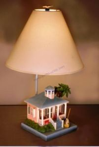 """Pink Beach House Electric Lamp 24"""" from Handcrafted Nautical Decor - In stock and ready to ship"""