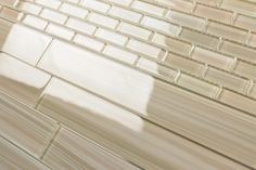 Light Brown 2x12 Hand Painted Subway Glass Tile Kitchen for ...