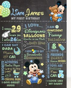 Baby Mickey Mouse 1st Birthday by PhiloDesignz on Etsy