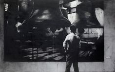 J. Ariadhitya Pramuhendra Looking for the bell, 2013 Charcoal on canvas, 250 x 400 cm / 98,25 x 157,48 inch.   ‪#‎Art‬ ‪#‎Indonesia‬ ‪#‎Pramuhendra‬ ‪#‎charcoal‬ ‪#‎painting‬