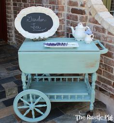 The Accidental Tea Cart - Duck Egg Blue