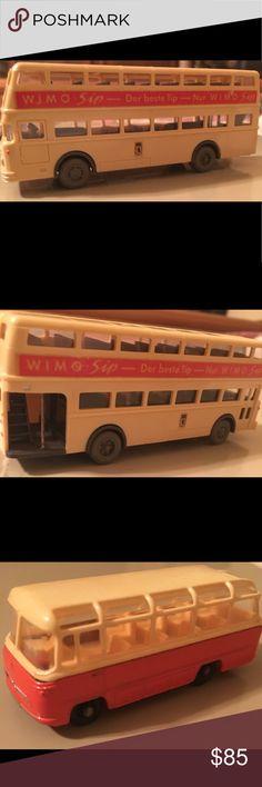 """Vintage Collectibles- Bundle (3) diecast bus toys Vintage Collectible- Bundle (3) rare 1960's diecast (2 in excellent condition!!) """"bus/tour theme"""" : Berlin/Germany plastic dble-decker Bus; Matchbox #68 Mercedes Coach Bus; & Tomica Fuso Hato Bus. Other"""