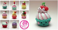 Cupcakes with Swirl Frosting - Pretty Ideas Crochet Cake, Love Crochet, Crochet Doilies, Swirl Cupcakes, Swirl Cake, Swirl Pattern, Free Pattern, Beautiful Cupcakes, Couture