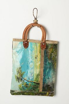 Still Life Bag, Landscape #anthropologie. Hmmm...paint by number printed on canvas and made into a purse...? Anthro has such great inspiration!
