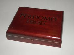 Beautiful Perdomo AllWood Cigar Boxes by FunEclecticHF on Etsy, $10.00
