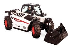 The V519 VersaHANDLER comes standard with an enclosed, air-conditioned cab. Photo: Bobcat