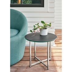 Our classic stainless steel outdoor end tables are an easy addition to your outdoor living space. Pair this outdoor table with any of our outdoor chairs to Modern Outdoor Furniture, Small Furniture, Furniture Covers, Ottoman In Living Room, Chair And Ottoman, Small Accent Tables, Outdoor Coffee Tables, Modern Side Table, Home Decor Items