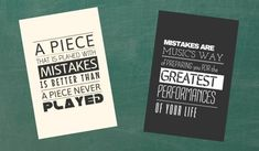 """Free printable posters that make mistakes """"okay""""! Beginner Piano Lessons, Music Lessons, Piano Quotes, Teacher Books, Lesson Quotes, Music And Movement, Piano Teaching, Music Classroom, Piano Music"""