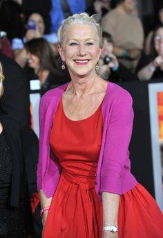 6 Simple Ways To Color Block and Look Classy..god I love this woman!!!  Helen Mirren is timeless beauty!!