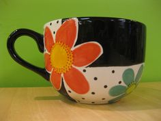 Jumbo mug painted at Art & Soul