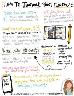 How to Journal Your Faith * apileofAshes — Wonderful advice on how to make Journaling your faith easier and more comfortable! Bible Study Plans, Bible Study Notebook, Bible Study Tips, Bible Study Journal, Scripture Study, Scripture Journal, Bible Bullet Journaling, Bible Verses, Motivational Scriptures