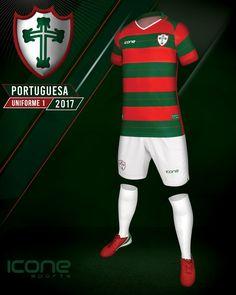 Camisas da Portuguesa 2017-2018 Ícone Sports