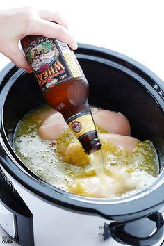 4-Ingredient Slow Cooker Salsa Verde Chicken | gimmesomeoven.com #recipe