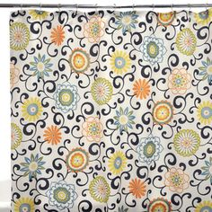@Overstock - This dazzling floral shower curtain brightens up the beginning of any day.http://www.overstock.com/Bedding-Bath/Waverly-Pom-Pom-Play-Confetti-Shower-Curtain/6643617/product.html?CID=214117 $23.72