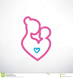 Mother And Baby Symbol - Download From Over 38 Million High Quality Stock Photos, Images, Vectors. Sign up for FREE today. Image: 43728304