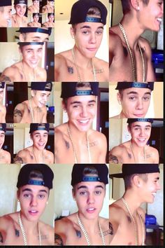 justin bieber shirtless collage - Google Search