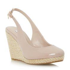 DUNE DAMEN – CECILLE – Espadrille-Sandalen mit Keilabsatz und Fersenriemen – rosafarben   Dune-Schuhe online