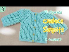 Aprenderemos a hacer un saquito para bebe en punto puff a crochet. Otros talles en el siguiente link http://pasoapasocrochet.com/saco-para-bebes-punto-puff/ ...