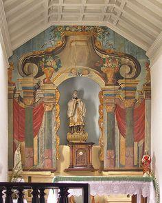 Altar in the São Francisco Xavier Church, Niterói, RJ, Brazil