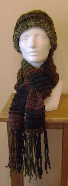 In The Forest Knit Scarf by AJoyfulCreation on Etsy, $20.00