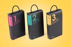 External hard drive packaging on Behance